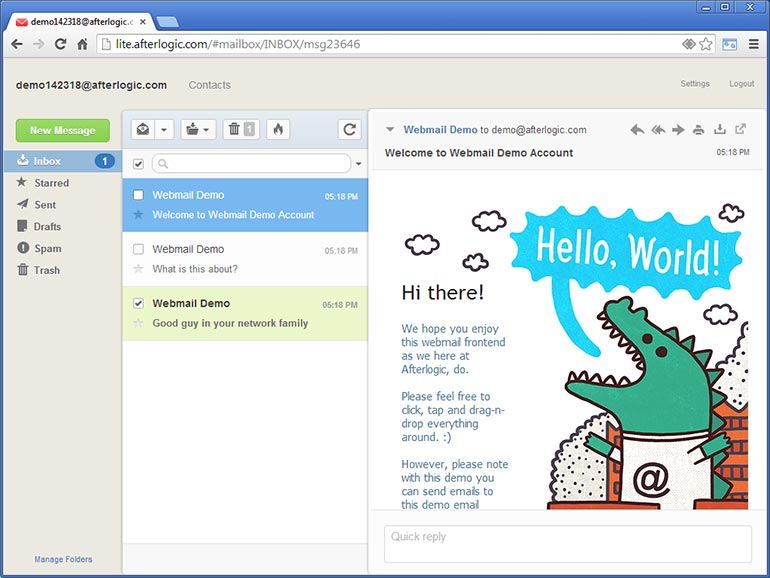 Introducing AfterLogic Webmail Client