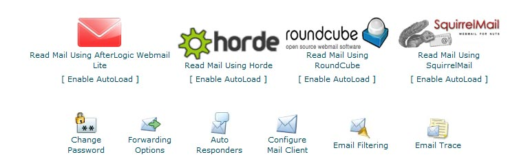 WebMail CLients Available