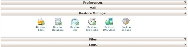 FastComet Backup Restore Manager