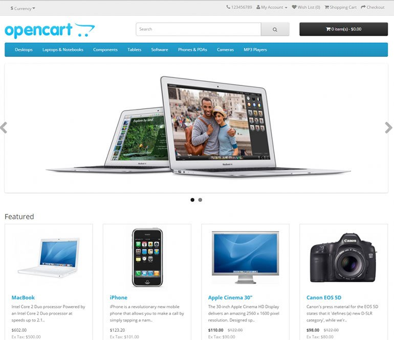 The New OpenCart 2 Frontend