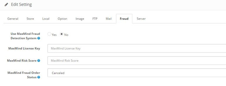 MaxMind Fraud Protection Fully Integrated with OpenCart 2