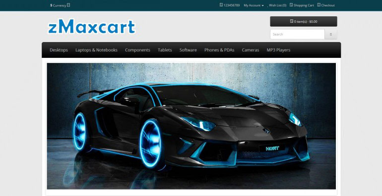 ZNaxCart Free Template for OpenCart