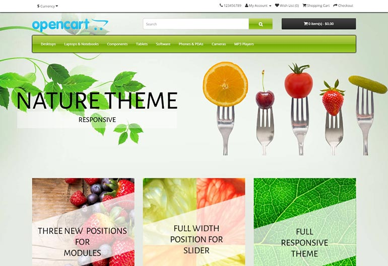Nature Free Template for OpenCart