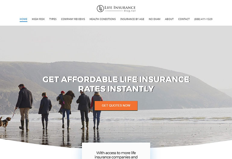 LifeInsurance Blog Site Preview - FastComet Interview with Michael Quinn
