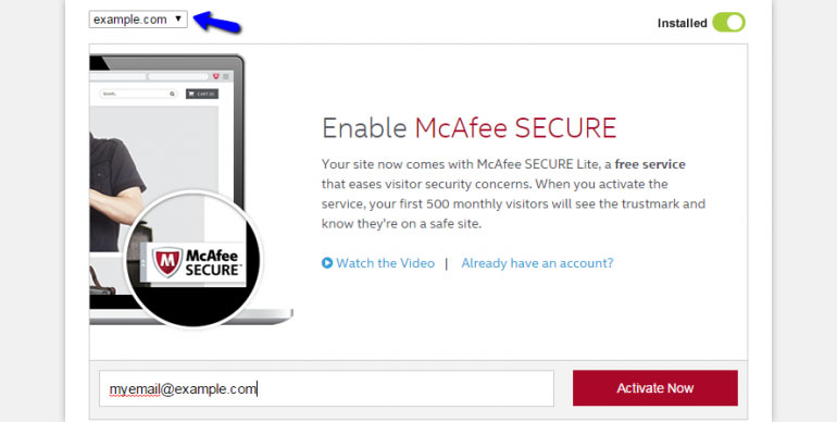 Enter your Email Address and Click on the Activate Now Button