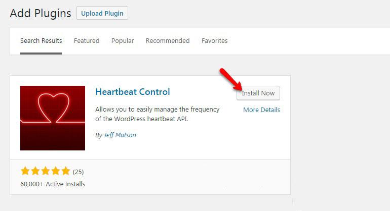 Install Hardbeat Control Plugin for WordPress with FastComet