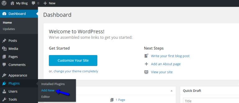 Add New Plugin in WordPress - FastComet