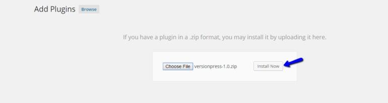 Upload and Install VersionPress for WordPress - FastComet