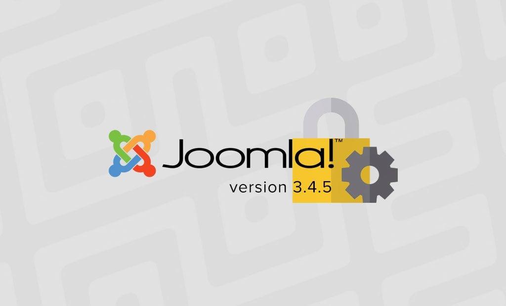 Joomla - Major Security Fix in Version 3.4.5