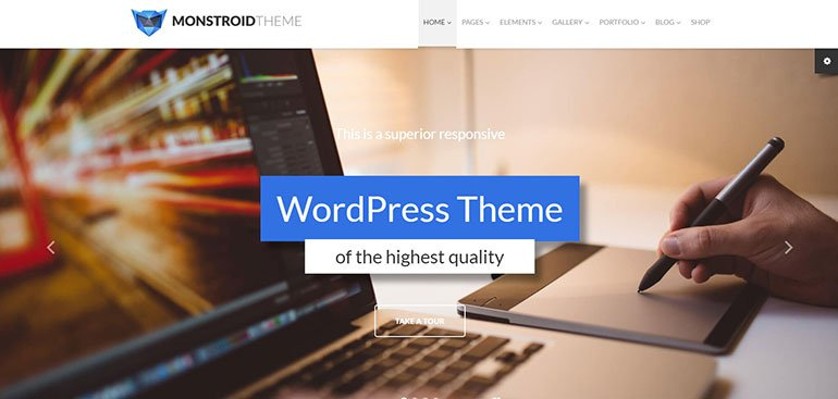Monstroid WordPress Theme by TemplateMonster - FastComet