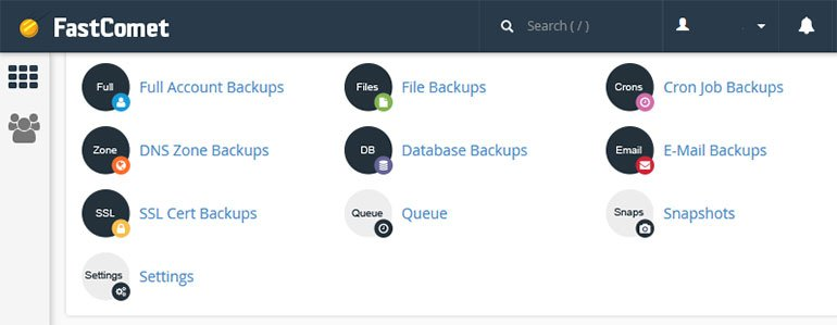 FastComet cPanel Backup Manager