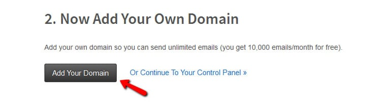 Verify Your Domain in Mailgun Step 1