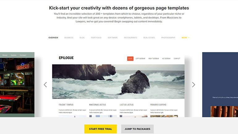 Kick-start Your Creativity with Dozens of Templates with FastComet Website Bulder