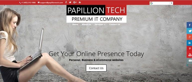 Papillion Tech Site Preview