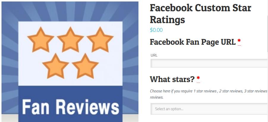 Facebook Custom Star Ratings - FastComet