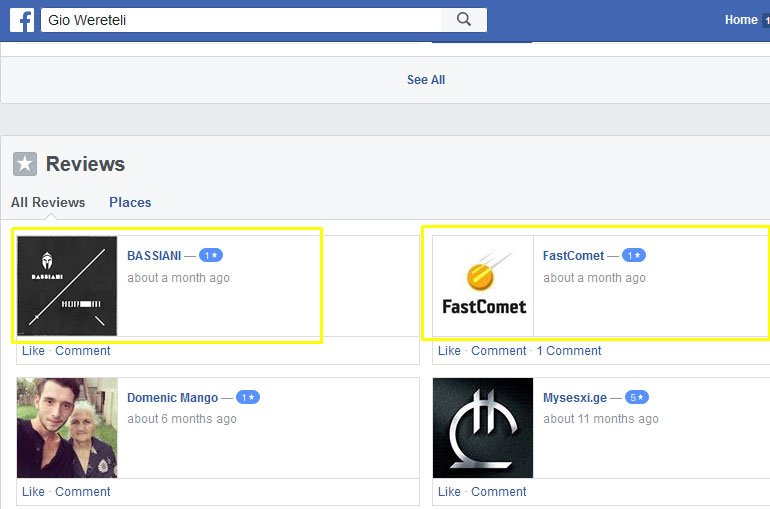 False FastComet Reviews on Facebook