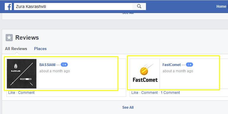 Huge Number of False Negative FastComet Reviews on Facebook