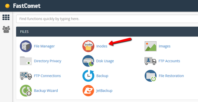 Find Inodes in cPanel - FastComet