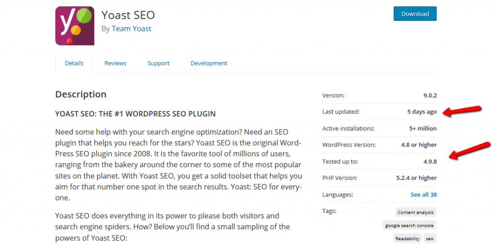 Yoast SEO WordPress Plugin Preview