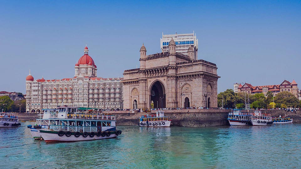View of Mumbai, India - Taj Mahal Palace