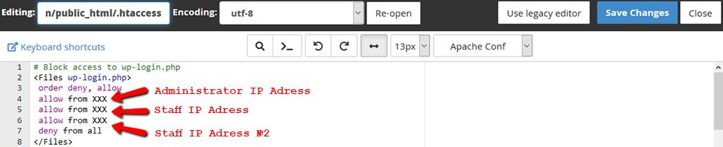 Whitelist IP Address to Limit WordPress Site Access