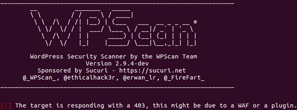 WordPress Security Scanner by the WPScan Team