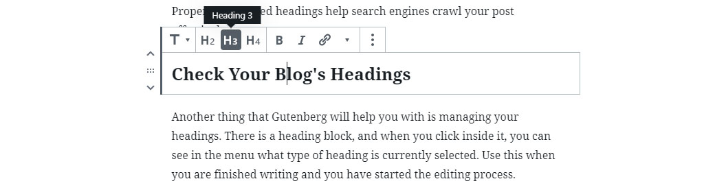 Check Your WordPress Blog Post Headings