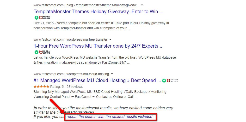 Include Google Omitted Search Results