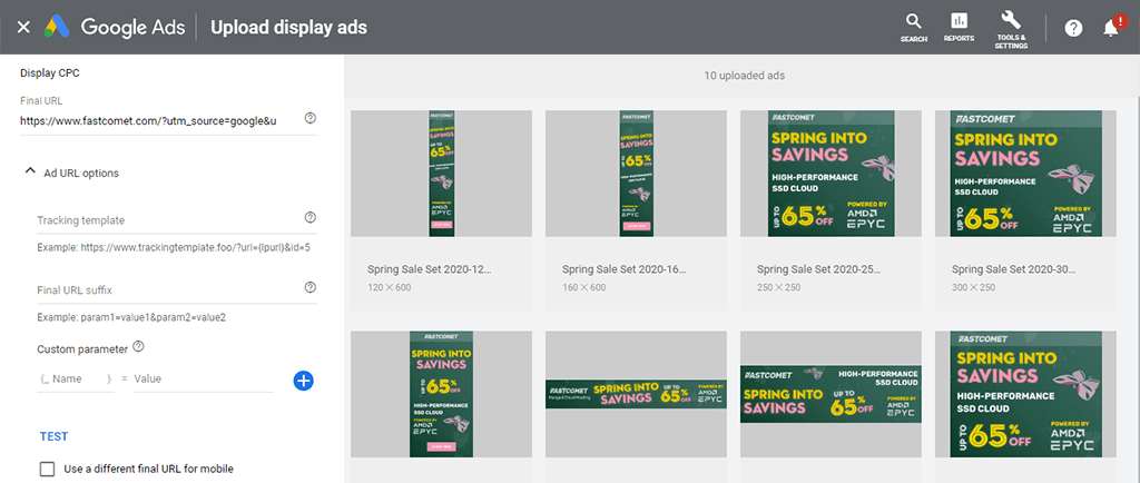 Google Ads Dashboard Preview