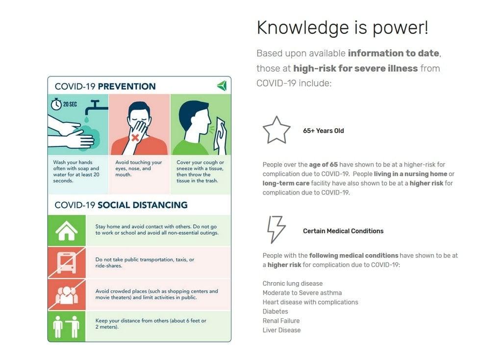 Covid Safe Corps Coronavirus Prevention Information