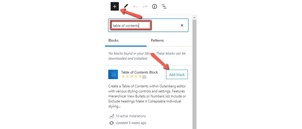 Block Directory in WordPress 5.5