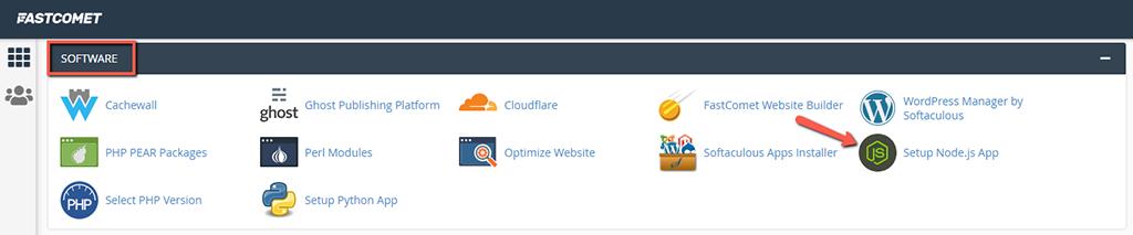 Setup Node.js Apps in cPanel