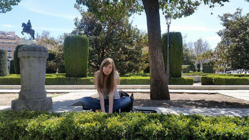 Yoana in The Park