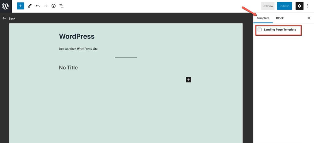 Template Editing Mode in WordPress 5.8