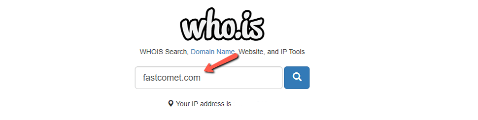 Input Domain Name in Who.is